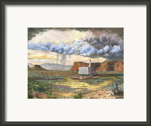 Windows Of Heaven Framed Print By Jeff Brimley