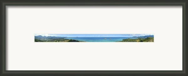 Windward Oahu Panoramic Framed Print By David Cornwell/first Light Pictures, Inc - Printscapes