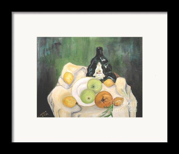 Wine And Fruit Framed Print By Caroline Street