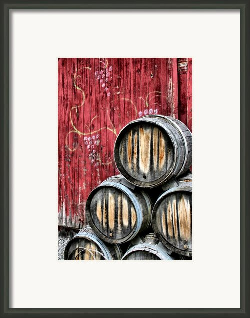 Wine Barrels Framed Print By Doug Hockman Photography