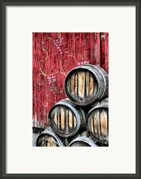 Wine Barrels Framed Print By Doug Hockman Photography