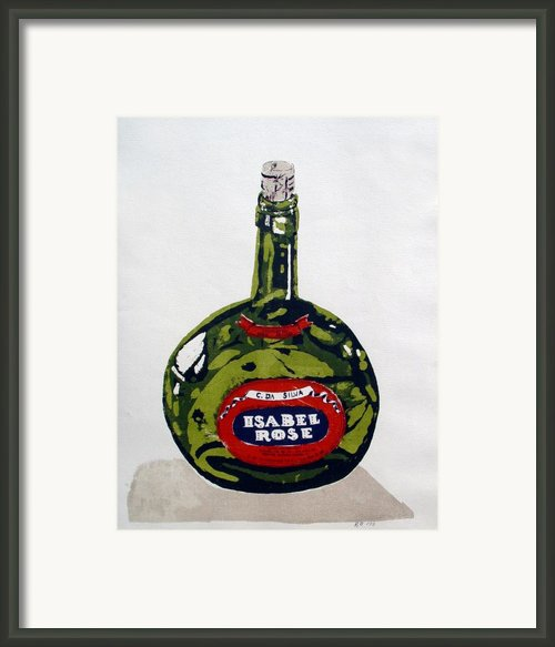 Wine Bottle Framed Print By Ron Bissett
