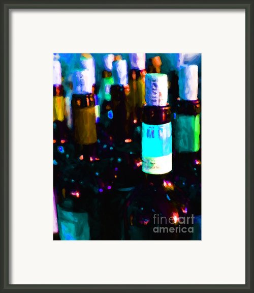 Wine Bottles - Study 2 Framed Print By Wingsdomain Art And Photography