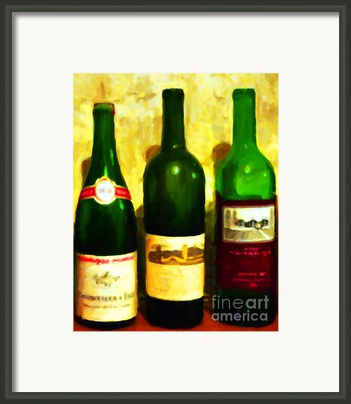 Wine Bottles - Study 6 Framed Print By Wingsdomain Art And Photography