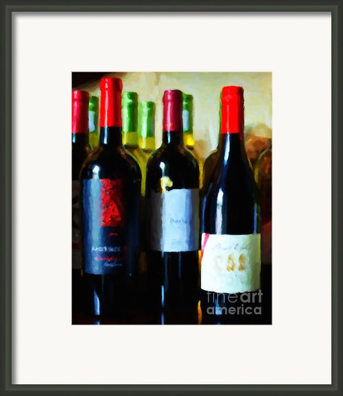 Wine Bottles - Study 7 Framed Print By Wingsdomain Art And Photography
