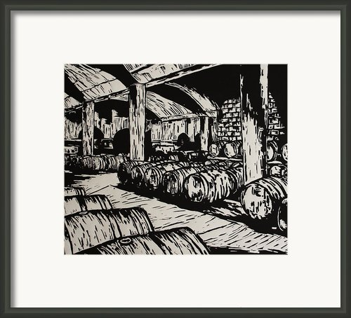 Wine Cellar Framed Print By William Cauthern