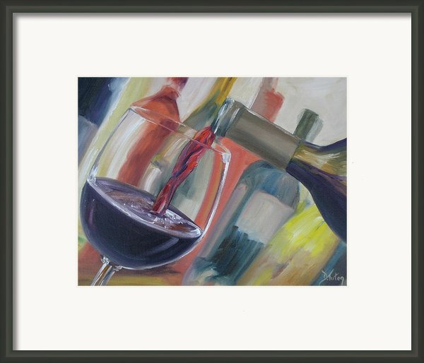 Wine Pour Framed Print By Donna Tuten