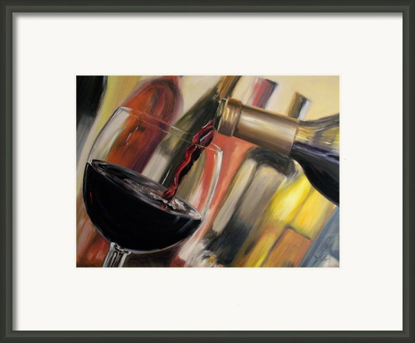 Wine Pour Ii Framed Print By Donna Tuten