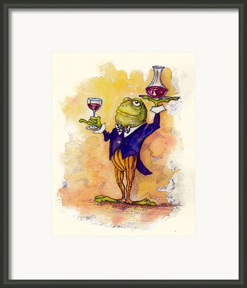 Wine Steward Toady Framed Print By Peggy Wilson