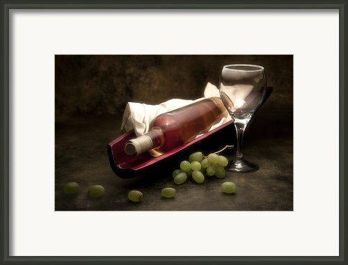 Wine With Grapes And Glass Still Life Framed Print By Tom Mc Nemar