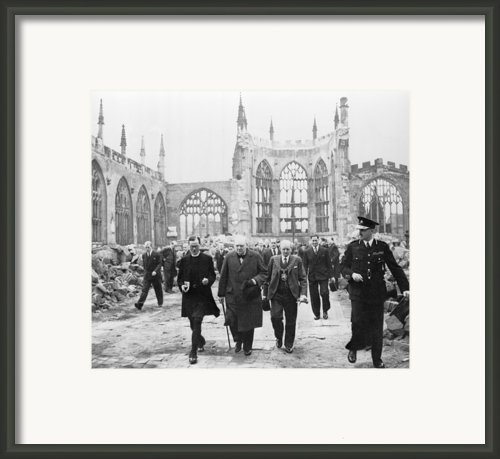 Winston Churchill 1874-1965, Walks Framed Print By Everett