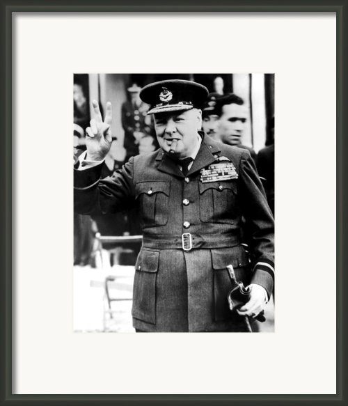 Winston Churchill, 1961 Framed Print By Everett