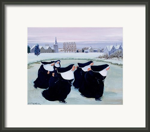 Winter At The Convent Framed Print By Margaret Loxton