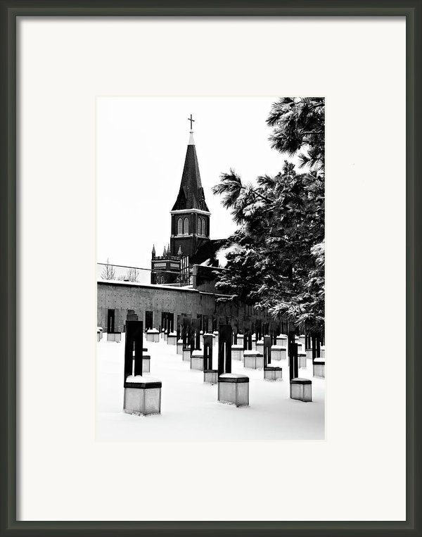 Winter Chairs Framed Print By Lana Trussell
