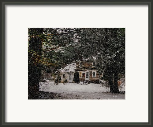 Winter Cottage Framed Print By Gordon Beck