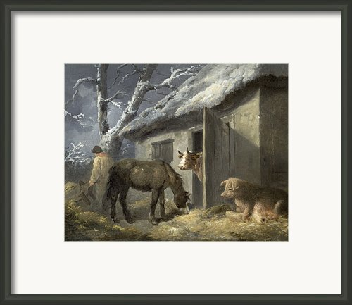 Winter Farmyard Framed Print By George Morland