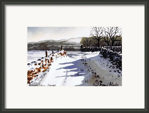 Winter Lane Sowood Framed Print By Paul Dene Marlor