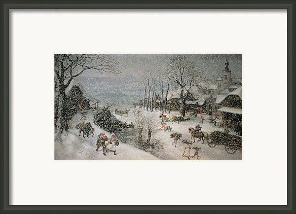 Winter Framed Print By Lucas Van Valckenborch