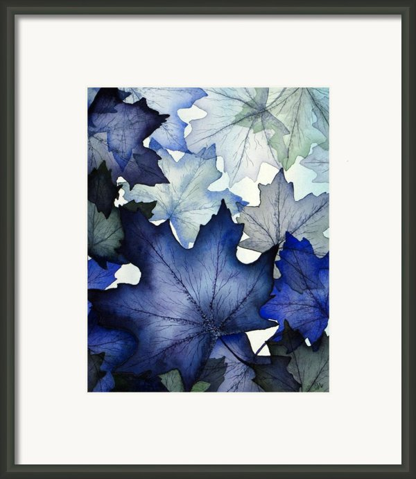 Winter Maple Leaves Framed Print By Christina Meeusen