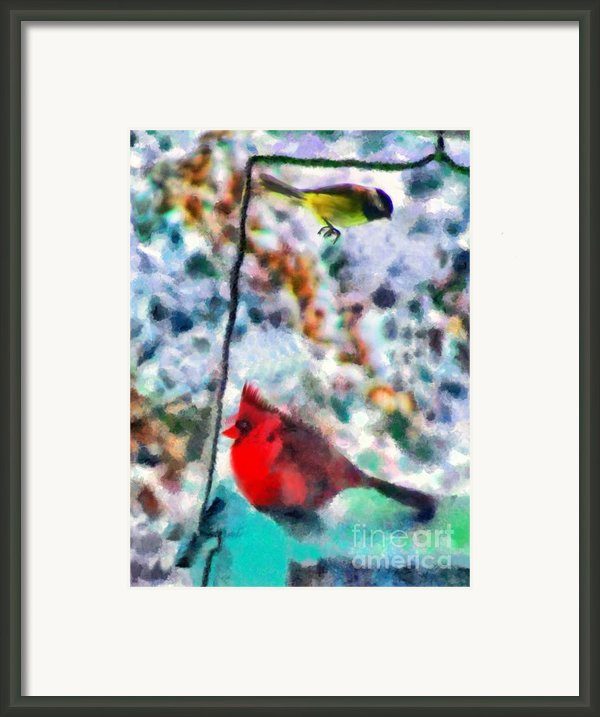 Winter Meals Framed Print By Marilyn Sholin