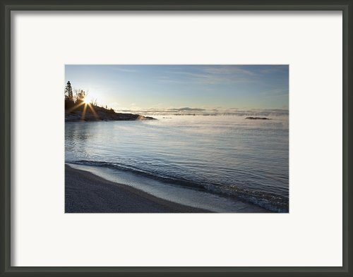Winter Mist On Lake Superior At Sunrise Framed Print By Susan Dykstra