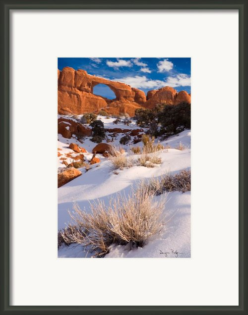 Winter Morning At Arches National Park Framed Print By Utah Images