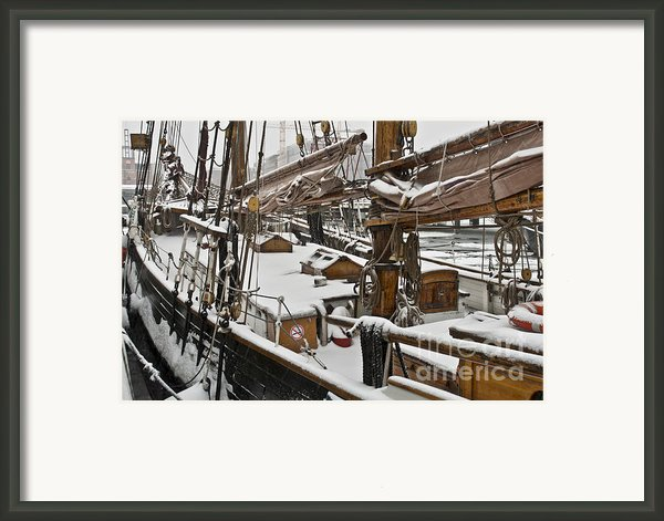 Winter On Deck Framed Print By Heiko Koehrer-wagner