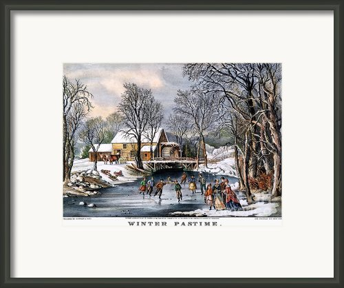 Winter Pastime, 1870 Framed Print By Granger