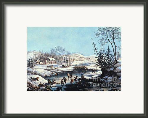 Winter Scene: Morning 1854 Framed Print By Granger