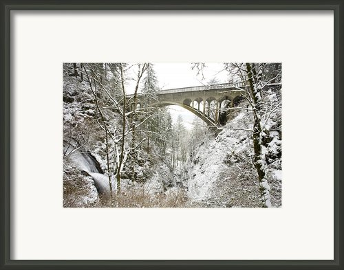 Winter, Shepperds Dell, Columbia River Framed Print By Craig Tuttle