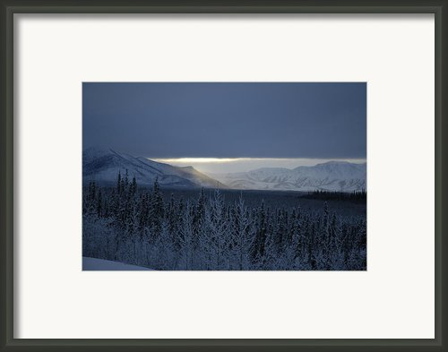 Winter Sun Alaska Framed Print By John Wolf