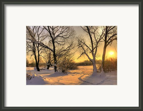 Winter Sunset Framed Print By Jaroslaw Grudzinski