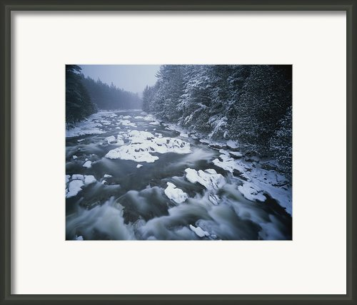 Winter View Of The Ausable River Framed Print By Michael Melford