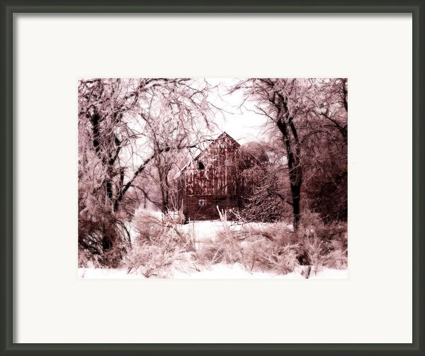 Winter Wonderland Pink Framed Print By Julie Hamilton