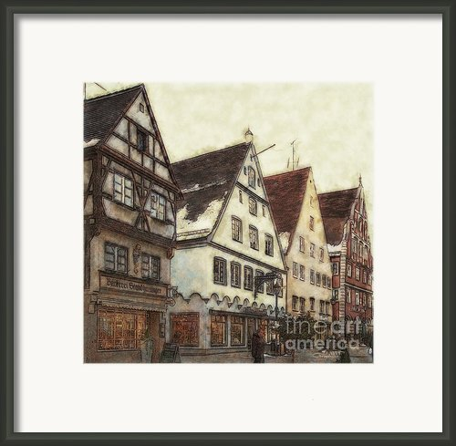 Winterly Old Town Framed Print By Jutta Maria Pusl