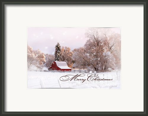 Winters Glow - Christmas Card Framed Print By Reflective Moments  Photography And Digital Art Images