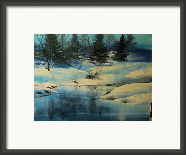 Winterscape Framed Print By Robert Carver