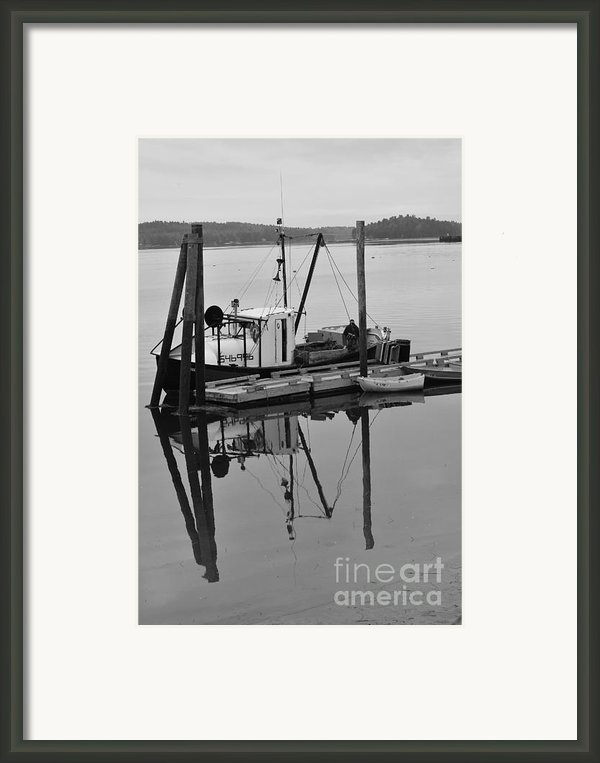 Wiscasset Reflection Framed Print By Catherine Reusch  Daley