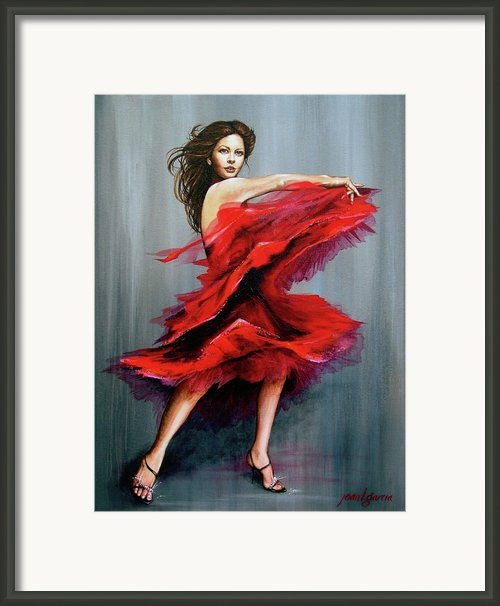 With Passion Framed Print By Joan Garcia