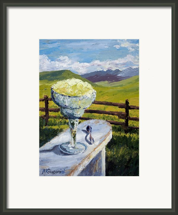 With Salt Framed Print By Mary Giacomini