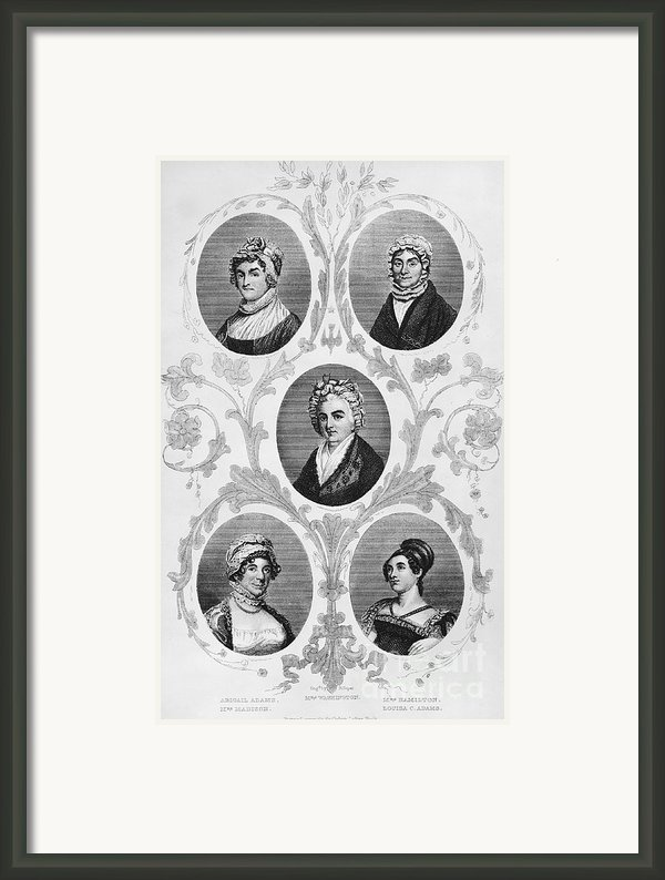 Wives Of Founding Fathers Framed Print By Granger