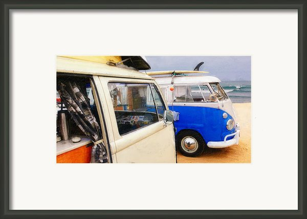 Woke Up And Went Surfin Framed Print By Ron Regalado