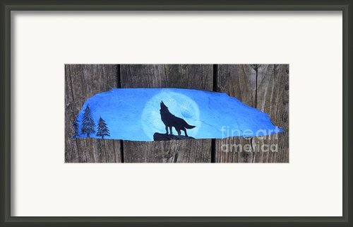 Wolf Howl1 Framed Print By Monika Dickson