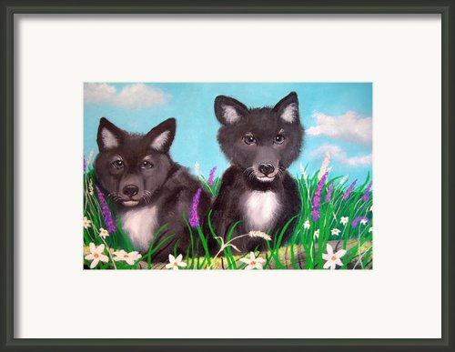 Wolf Pups Framed Print By Nick Gustafson