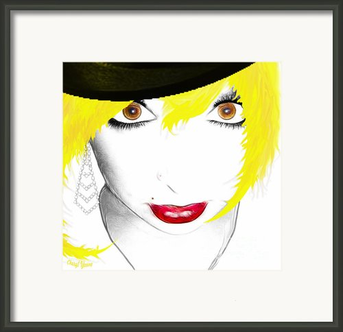 Woman 13-2 Cropped Square Framed Print By Cheryl Young