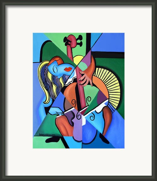 Woman And Her Chelo Framed Print By Anthony Falbo