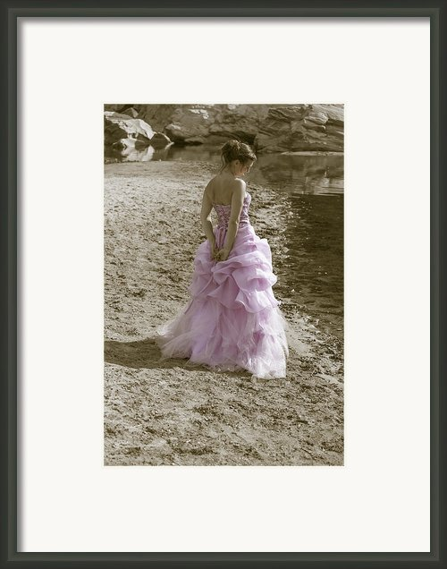 Woman At The Beach Framed Print By Joana Kruse