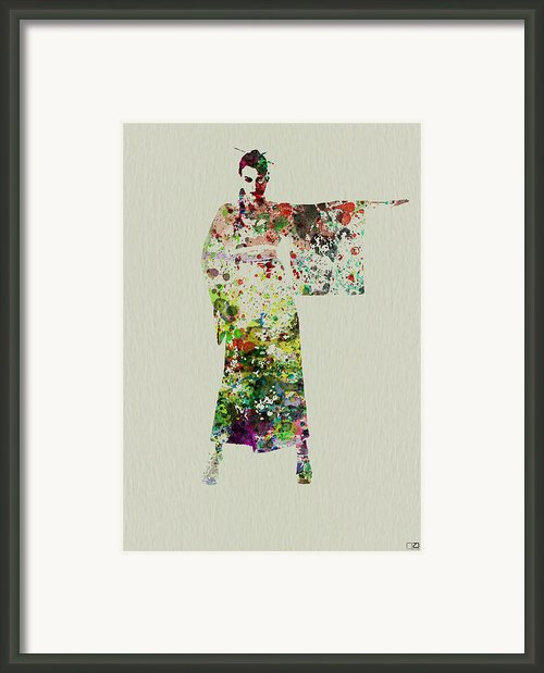 Woman In Kimono Framed Print By Irina  March