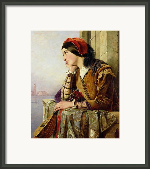 Woman In Love Framed Print By Henry Nelson O Neil