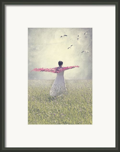 Woman On A Lawn Framed Print By Joana Kruse